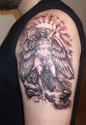 Angel vs demon by RawGraff