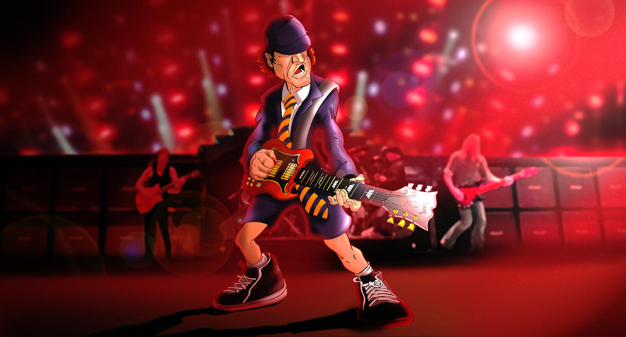 Ac Dc Art : Angus young ac dc by moislopez on deviantart
