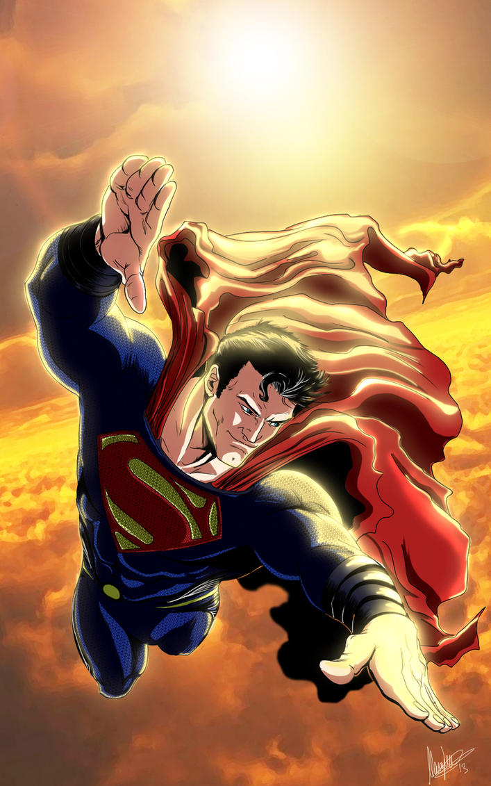 Man of steel Sky MLG13 Art by Renato Guedes cover by Moislopez