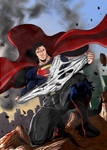 Man of Steel ready for fight!!! by MLG13