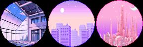 pastel vaporwave circle divider f2u