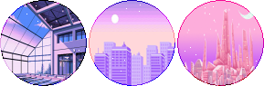 pastel vaporwave circle divider by cal-vain