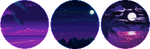 nighttime vaporwave circle divider f2u by cal-vain