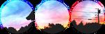 pastel sunset circle divider by cal-vain
