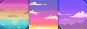 pixel skies square divider by cal-vain