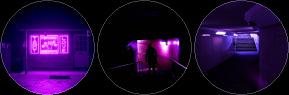 violet glow circle divider by cal-vain