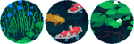 koi fish pixel circle divider f2u by cal-vain