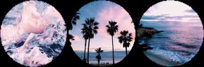 cream beach circle divider by cal-vain