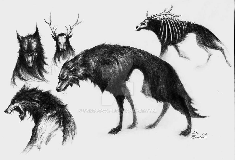 shady wolf by SokolovaJu