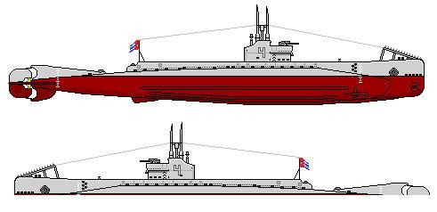 Type II-1 class submarine by CommodoreHorton on DeviantArt