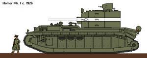 Homer Heavy Tank by CommodoreHorton