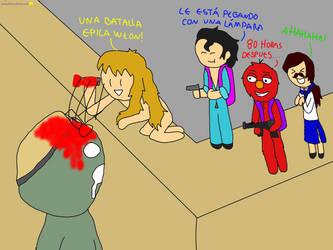 Edgar vs zombie gigante - Jaidefinichon GOTH by nomellamoFuckencia