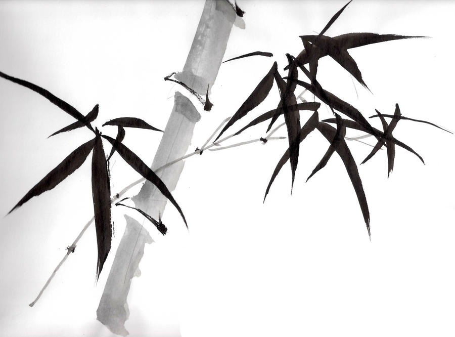 Chinese painting bamboo by puffley115 on DeviantArt