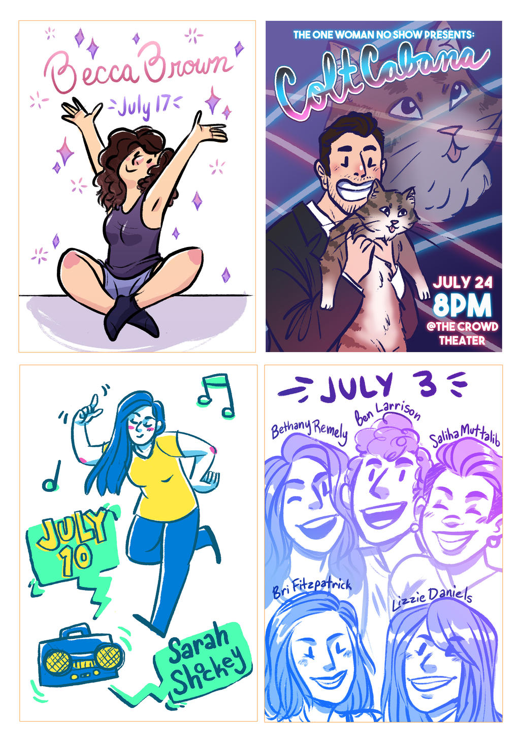One Woman No Show Performer Posters by AngryArtist113