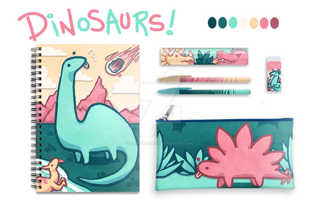 Dinosaur Friends! by AngryArtist113
