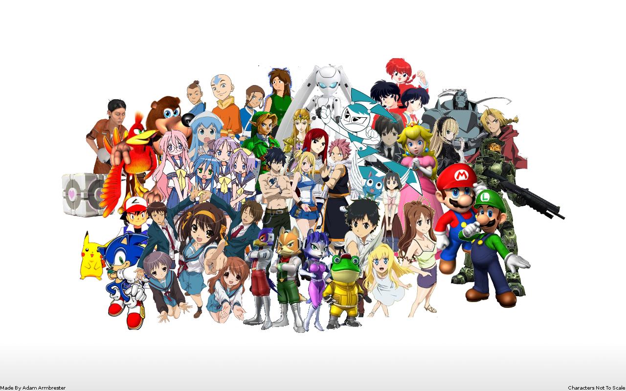 Characters Wallpaper by Zelda64fanAll Zelda Characters