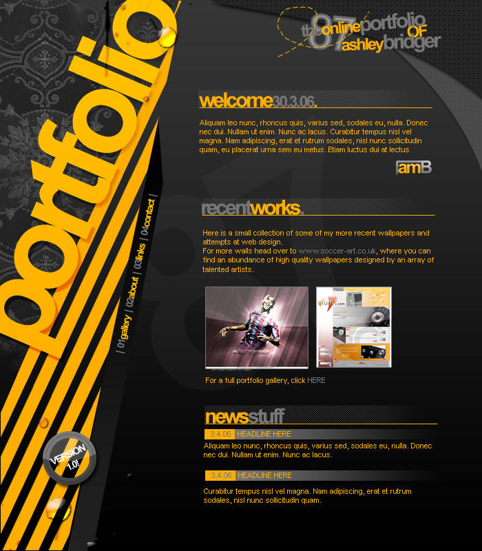 Portfolio Design V1 By Ashbridger On Deviantart