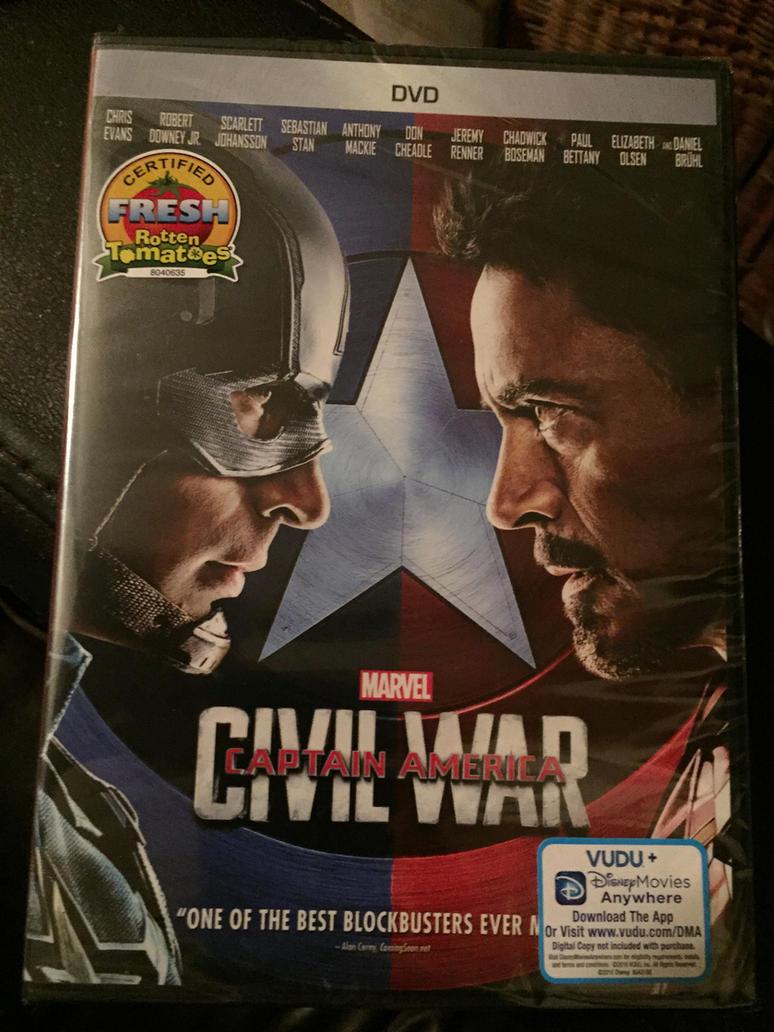 Captain America Civil War DVD by KateHasBoobs