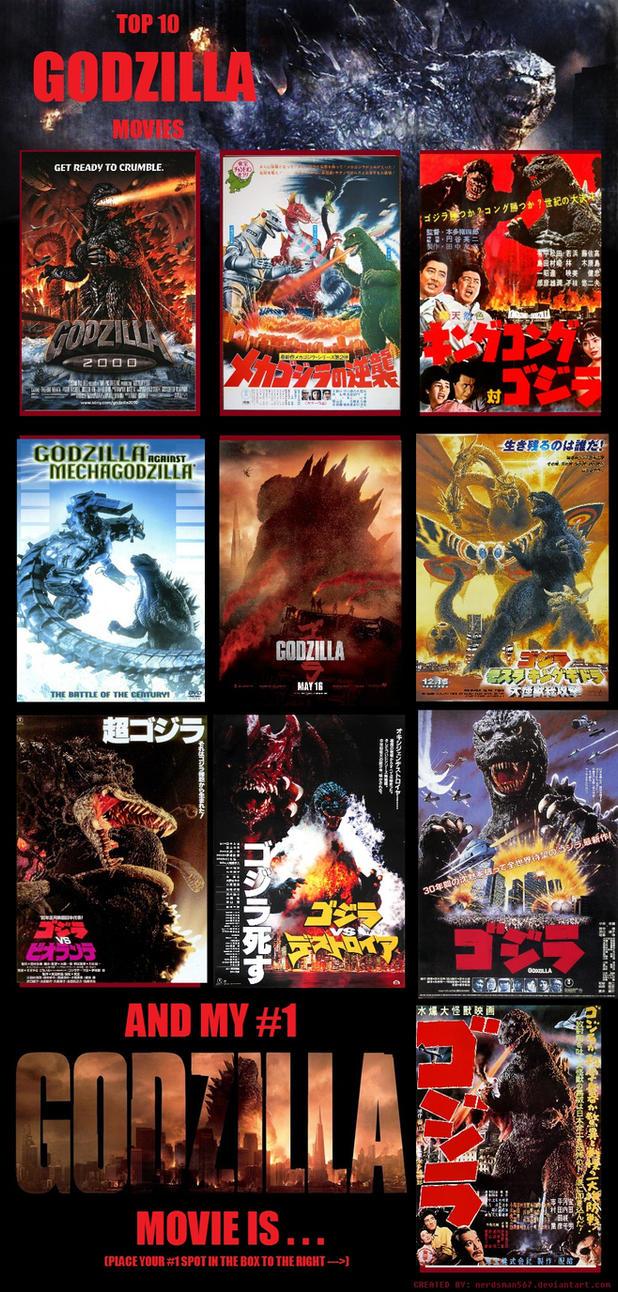 Top 10 Godzilla Movies Meme by KateHasBoobs
