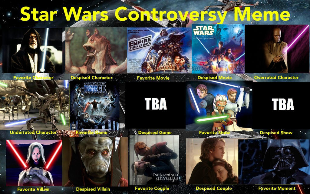 Star Wars Controversy Meme by KateHasBoobs