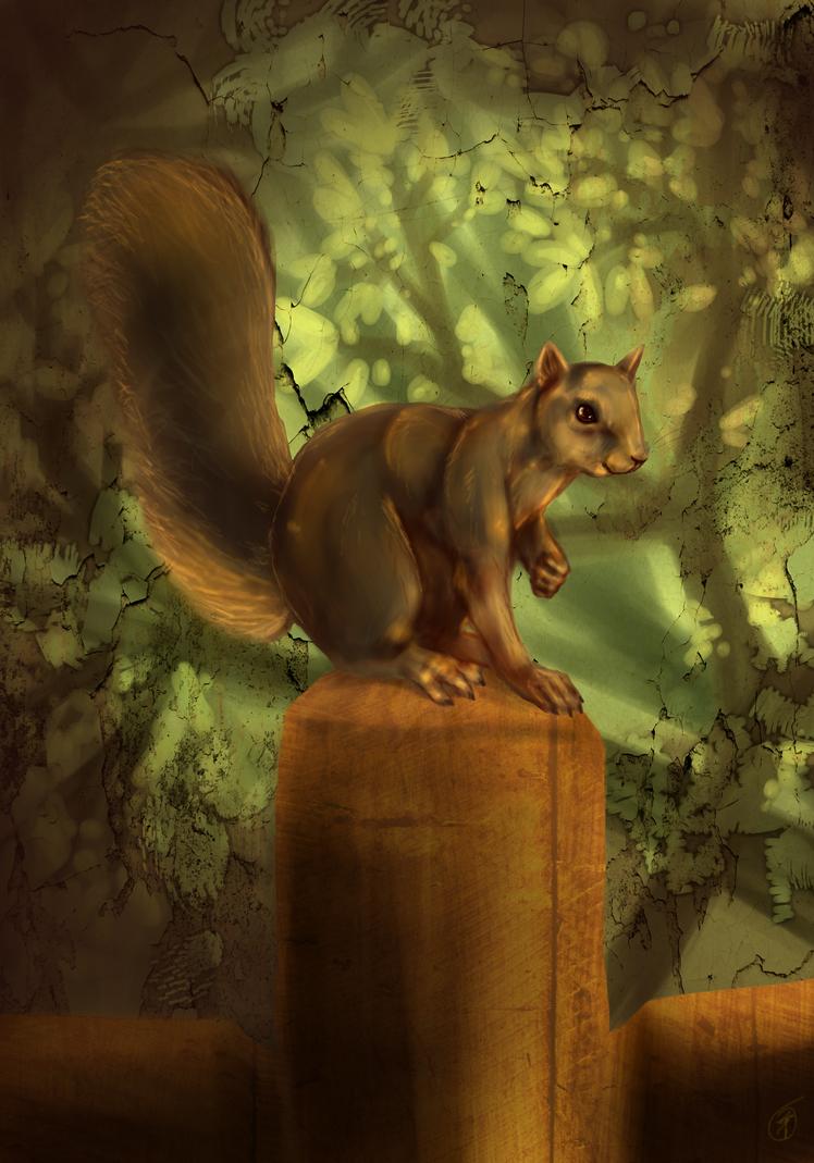 Squirrel by skullzhead