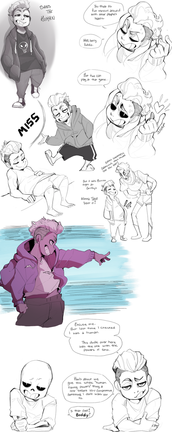 More Sans Sketches by Adzze