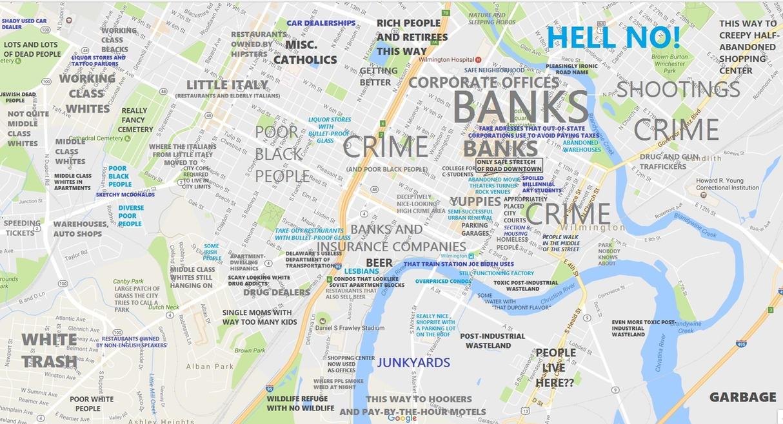 Judgemental Map Wilmington De by BardaWolf on DeviantArt