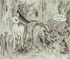 Le lapin, le mouton et le loup by cucumber-sandwiches