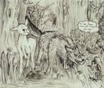 Le lapin, le mouton et le loup