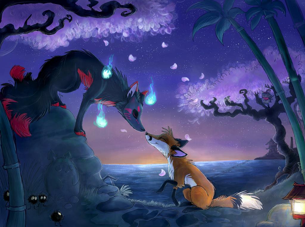 Guardian of the Kitsu by namiwami