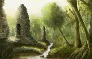 Jungle Temple ruins by derbz