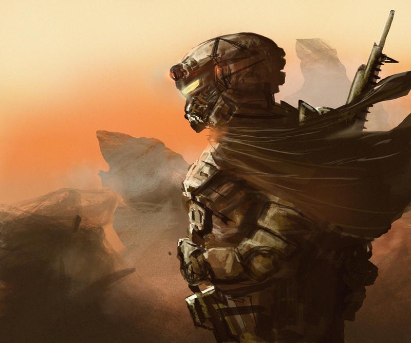 Martian ranger sniper concept by derbz
