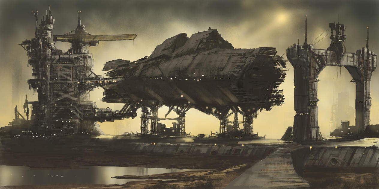The Outer territories- Shipyard by derbz