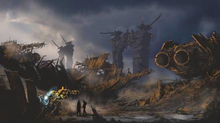 Starship Breakers Yard by derbz