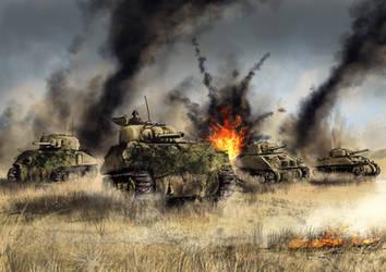 Advance on Bourguebus Ridge - 1944 by derbz