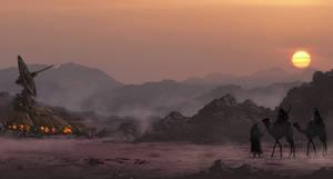 Tech bedouins encampment