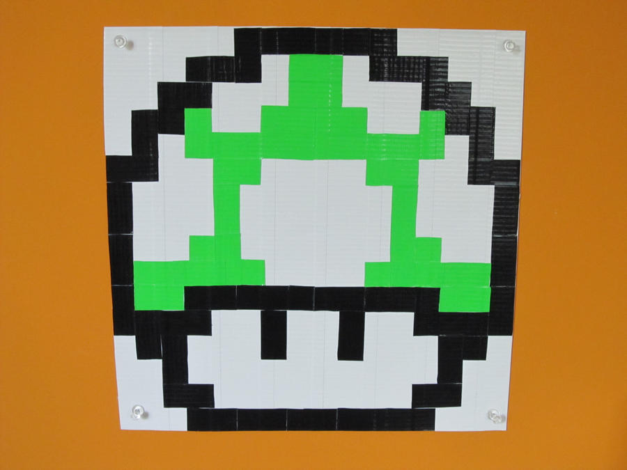 1 up mushroom pixel art