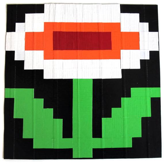 Dt Pixel Art Fire Flower By Ducktape Rose On Deviantart
