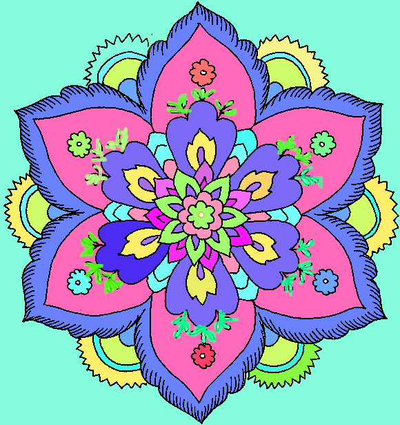 Hard flower coloring pages 708008 by ladybug455 on deviantart for Coloring pages for adults difficult flower