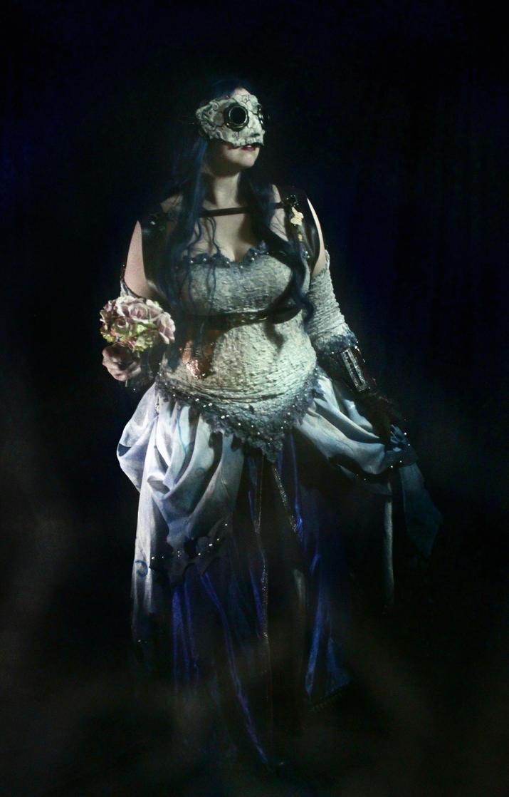 Steampunk Corpse Bride flowers by Elentari-Liv