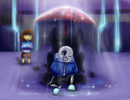 Undertale - Always put on the umbrella! by CamilaAnims