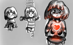 Frisk - Sketch by CamilaAnims