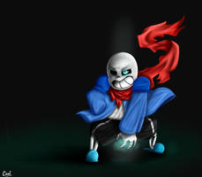 Sans is ready to dunk by CamilaAnims