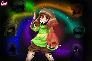Chara from Glitchtale! (w/ Speedpaint!) by CamilaAnims