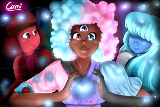 Garnet's first fusion   Steven Universe!