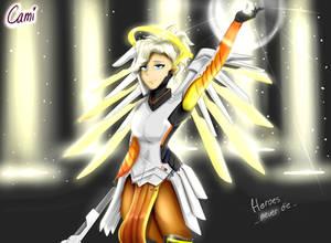 Heroes never die! - Mercy from Overwatch