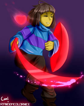 Glitchtale Frisk! Collab with RandomColorNice
