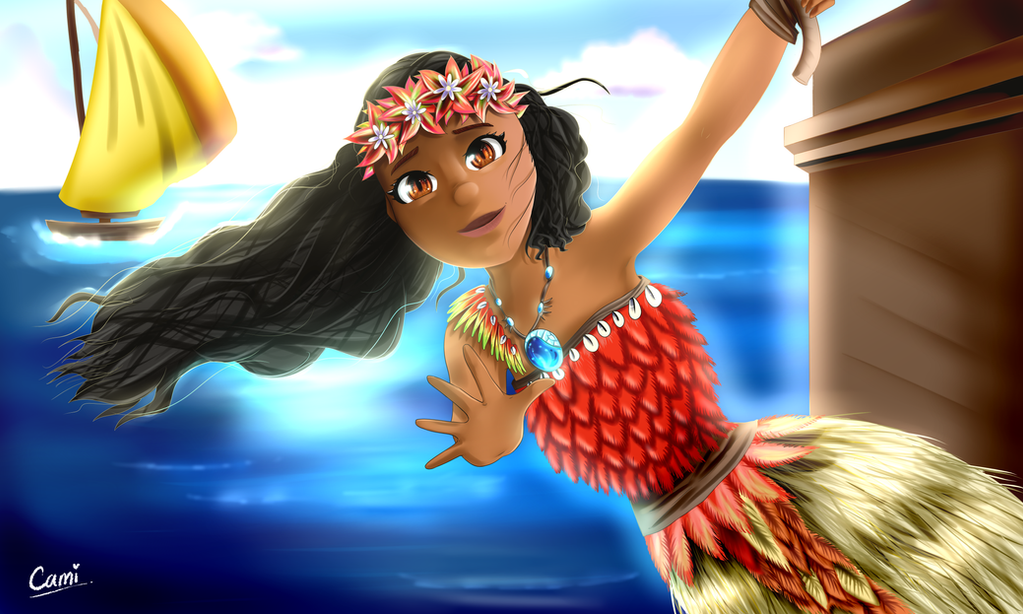 Moana! | Commission for Bread by CamilaAnims