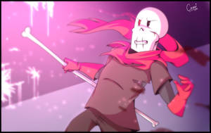 I can also fight | Glitchtale Papyrus by CamilaAnims
