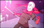 I can also fight | Glitchtale Papyrus
